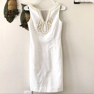 Lilly Pulitzer Janice white shift dress
